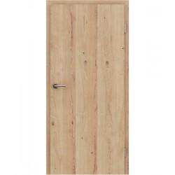Furnirana unutrašnja vrata s uspravnom strukturom GREENline - hrast grča pukotina brušeni mat luženi lakirani