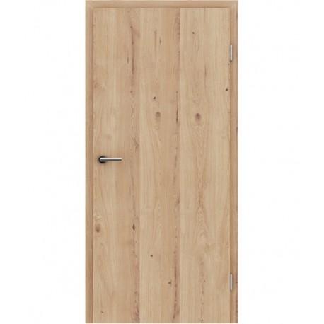 Furnirana sobna vrata s uspravnom strukturom GREENline - hrast grča pukotina brušeni mat luženi lakirani