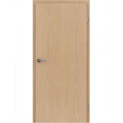 Furnirana sobna vrata s uspravnom strukturom GREENline - hrast europski brušeni mat luženi lakirani
