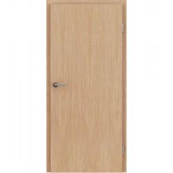 Furnirana unutrašnja vrata s uspravnom strukturom GREENline - hrast europski s bijelim porama