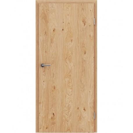 Furnirana unutrašnja vrata s uspravnom strukturom GREENline - hrast grča brušeni natur lakirani