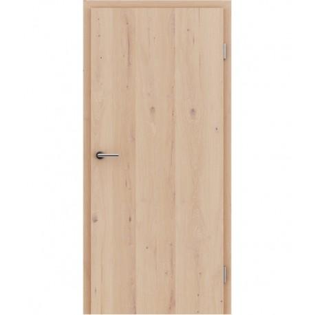 Furnirana unutrašnja vrata s uspravnom strukturom GREENline - hrast grča pukotina bijeli uljeni