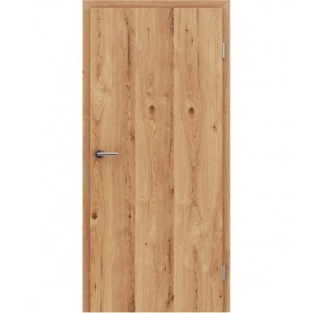 Furnirana unutrašnja vrata s uspravnom strukturom GREENline - hrast grča pukotina natur lakirani