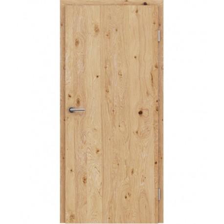 Furnirana unutrašnja vrata s uspravnom strukturom GREENline - hrast grča s bijelim porama
